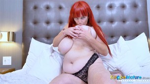 EUROPEMATURE Horny mature lady got captured on tape all naked
